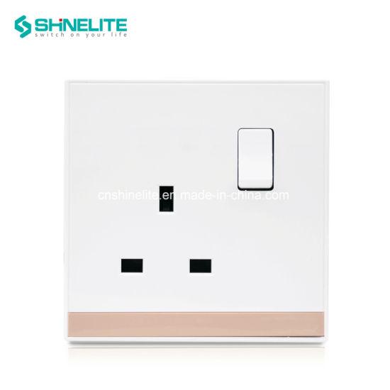 UK Switch 13A Electric Wall Socket Single Pole Ce/CB Certificate