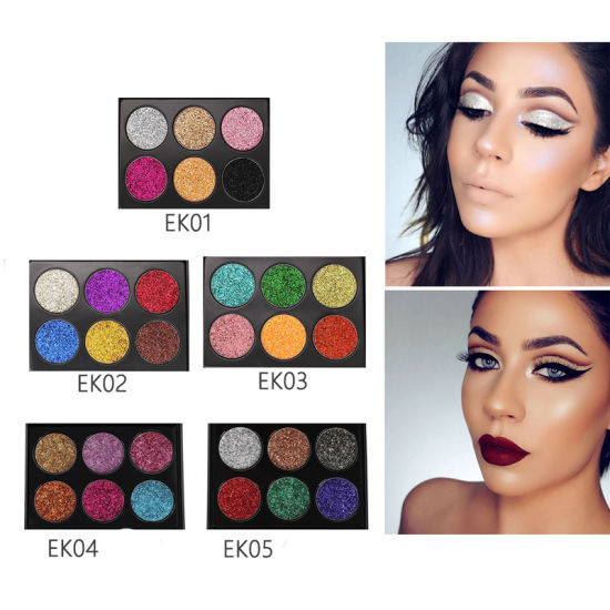 Wholesale Custom Logo Factory Price High Quality 6 Color Eye Shadow Palette pictures & photos