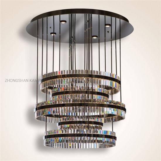 High End European Hotel Decorative Pendant LED Crystal Ceiling Light (km3009)