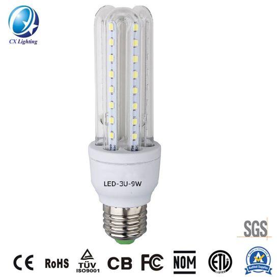 U Shape LED Bulb Corn LED Light 3u 9W 85-265V 810lm Indoor or Outdoor Lighting