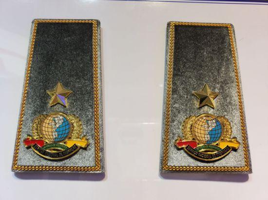 High Quality Army Bullion Wire Marine Shoulder Board Military Navy Sailor Hard Captain Epaulette