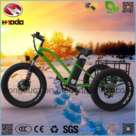 48V 500W Cargo Electric Beach City Tricycle for Tour