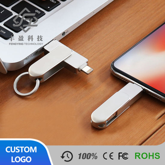 New Items Customized Swivel Metal USB 3.0 Flash Drive 32GB Support Logo Printing pictures & photos