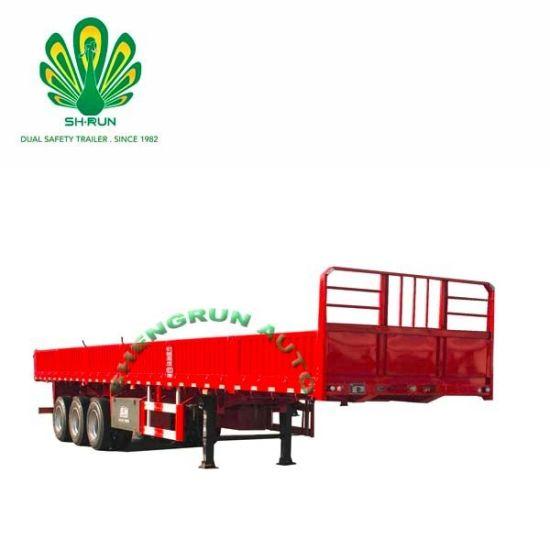 40FT Utility Container Semi Cargo Trailer Flatbed Truck Semi Trailer