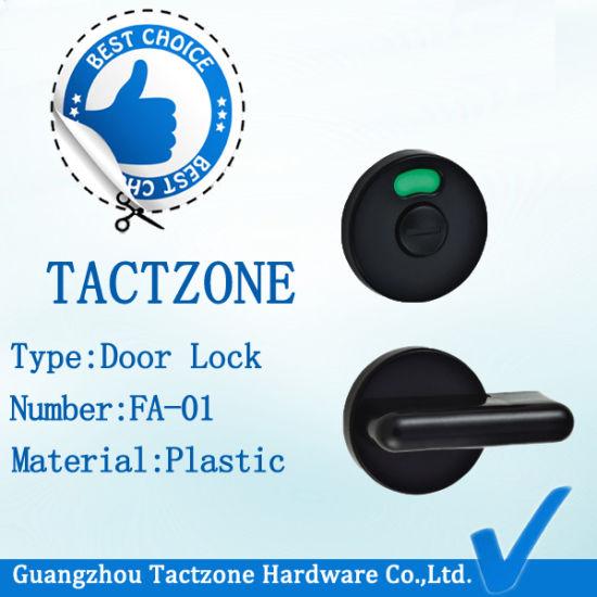 Durable Toilet Partition Bathroom Accessories Plastic Door Lock