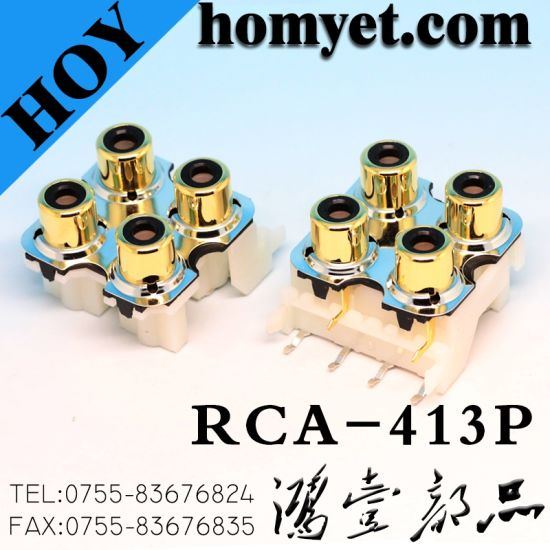 RCA Connector/8 Holes RCA Socket/RCA Jack (HY-RCA-813) pictures & photos