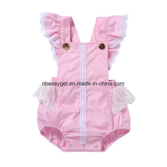 c46139d76149 Cute Newborn Baby Girl Backless Ruffle Button Summer Romper Bodysuit Outfits.  Get Latest Price
