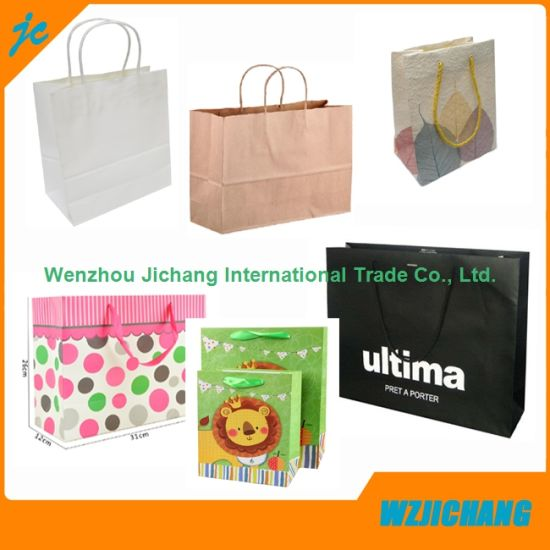 0da869d01a China Luxury Paper Carrier Bag Wholesale Paper Bags with Handle ...