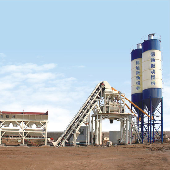 Detong Popular Conctete Batching Plant with Vibrating Mixing for Uhpc/Hpc/Nsc