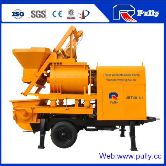 Pully Manufacture 37kw Electrice Concrete Mixing Pump (JBT40-L) pictures & photos