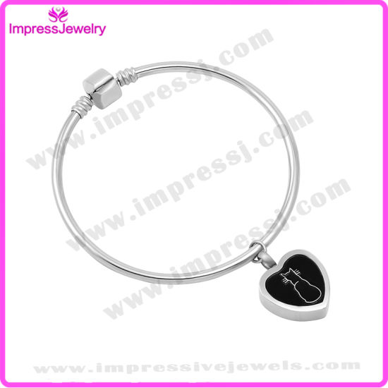 Heart Charms Pulseras Cremation Bracelets for Women Stainless Steel pictures & photos