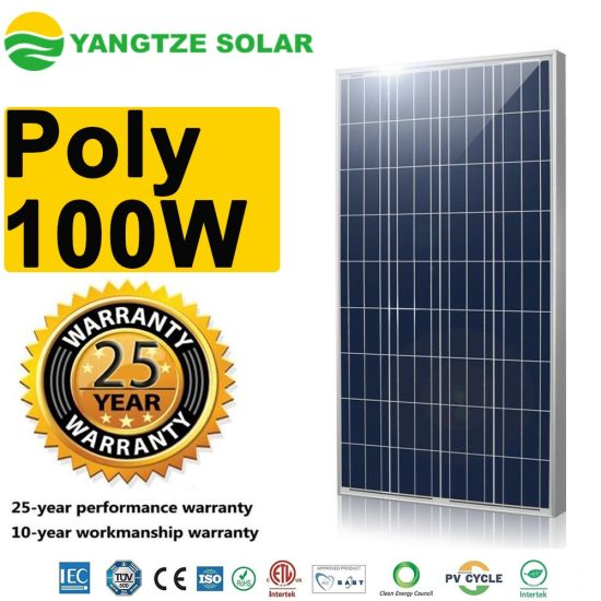 Poly PV 12V 100W Solar Panel Wholesale Price Manufacturers in China