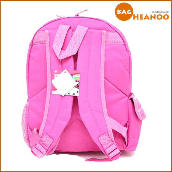 ... size 40 08ce3 49600 Pink Cute School Bag for Girl Hello Kitty Cartoon  Backpack ... 2849e09d44359