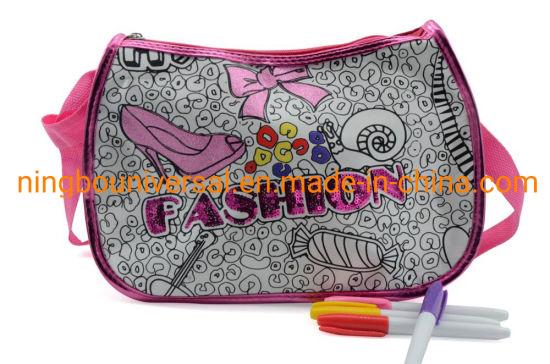 Wholesales Fashion Shinning Girl Gift Toy Kids DIY Coloring Bag