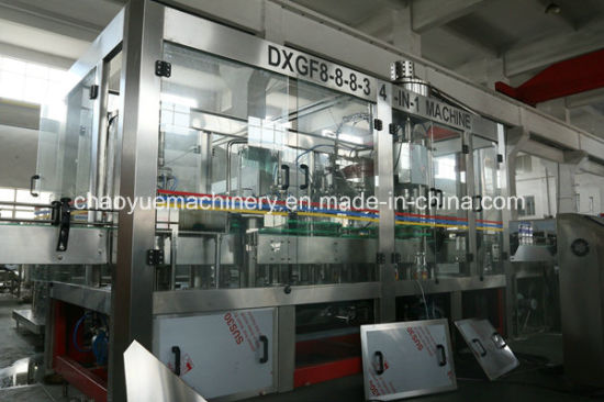 Full-Auto Glass Bottle Carbonated Beverage Filling Machinery pictures & photos