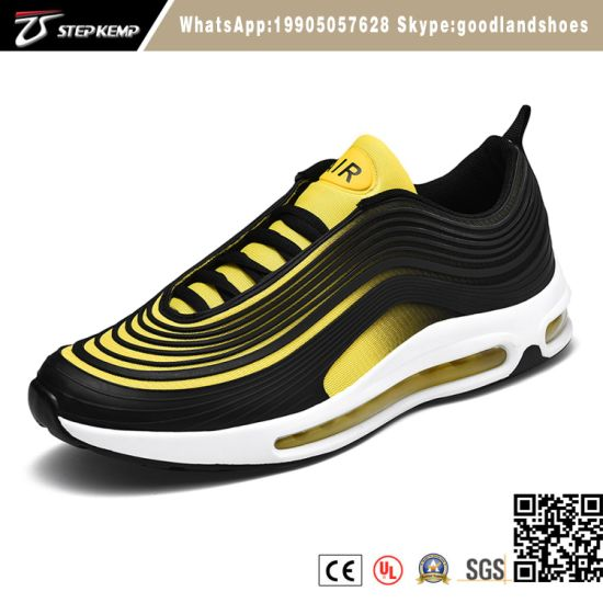Big Size Running Air Cushion Men Running Shoes with Kpu Upper2389