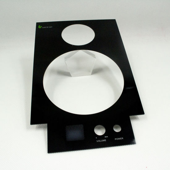 China Precise Cutting Printed Amplifier Front Panel - China