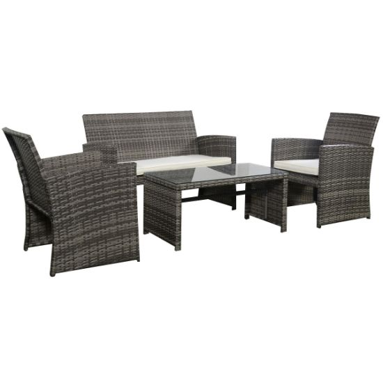 China 4 Pc Rattan Patio Furniture Set