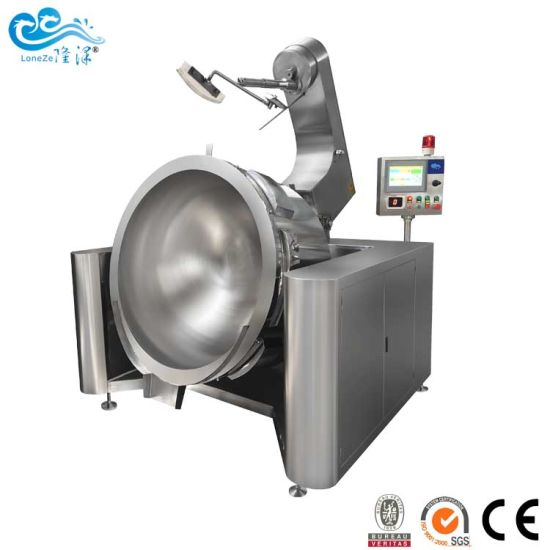 Industrial Large Capacity Planetary Mixing Type Sauce Data Paste Meat Cooking Machine Kettle with Agitator