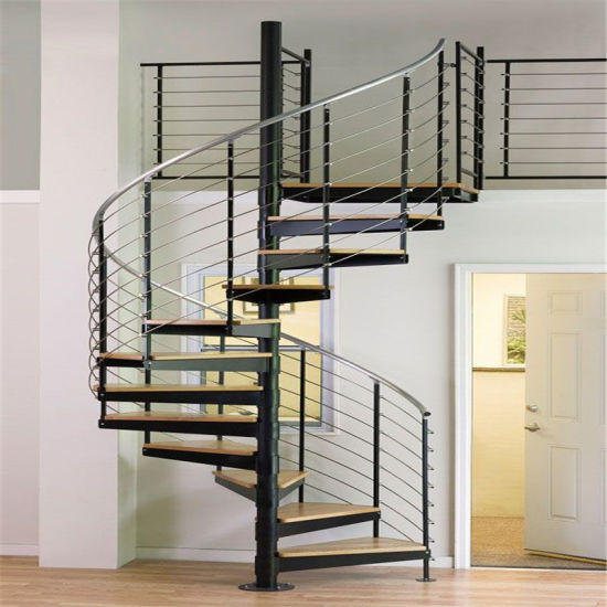 DIY Design Indoor Wrought Iron Wooden Spiral Staircase Prices
