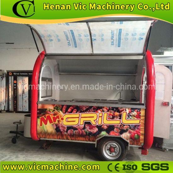 Glass Windows Mobile Food Cart