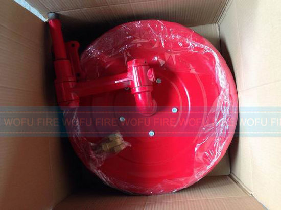 Fire Hose Reel with Brass Nozzle and Coupling pictures & photos