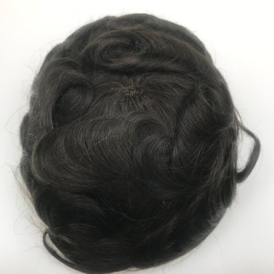 Virgin Hair Unit for Men Toupee 100% Human Hair Australia Base Design Toupee Using Tapes pictures & photos