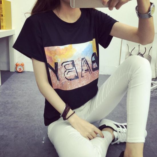 Fashion Crew Neck Short Sleeve Tshirt