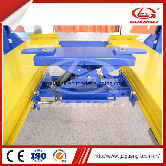 Guangli Factory Car Repair Equipment Four Post Car Lift for Four-Wheel Aligment (GL-4-4E1) pictures & photos