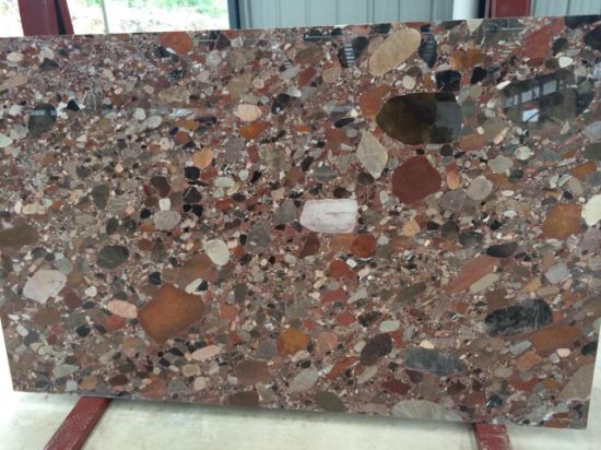 Hot Sell Widely Used Colorful Riverstones Marble Stone Flooring Tile pictures & photos
