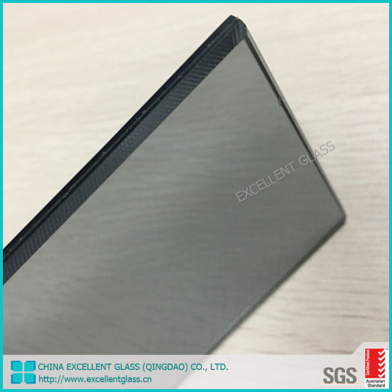 6+0.76PVB+6 12.76mm Euro Grey Tinted Color Laminated Tempered Stained Glass for Large Glass Window