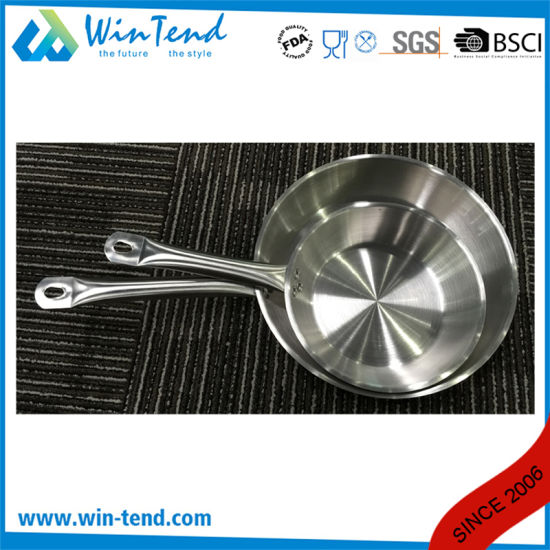 Stainless Steel Hard Cast Heat Conduction Combine Sandwich Bottom Induction Fry Pan pictures & photos