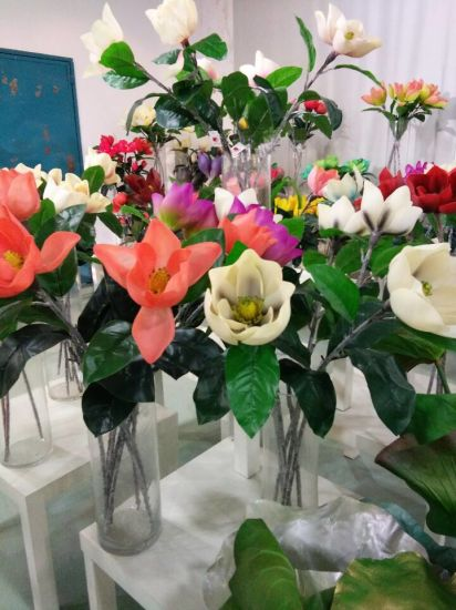 China High Quality Artificial Plants And Flowers Of Magnolia Flowers