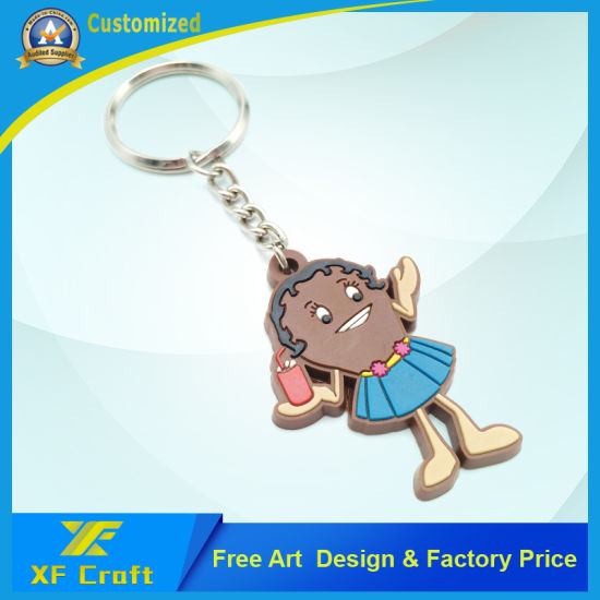 Professional Wholesale Customized PVC Rubber Cartoon Key Holder/Key Tag for Souvenir (XF-KC-P34) pictures & photos