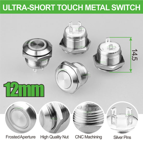 ON//OF 16mm  Durable Push Button Momentary Switchs MomentarySwitch Car Start