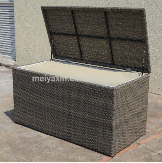 Outdoor Cheap Waterproof Wicker Cushion Storage Box