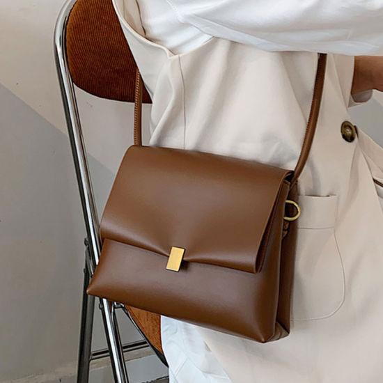 Inside Double Compartment Bag Fashion Styles Handbag Design Purse Vegan Leather Flap Shoulder Bag
