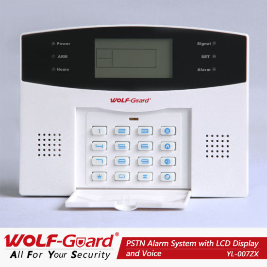 FCC/CE/RoHS 2013 New PSTN Alarm System with Blue Backlighting LCD Display and Voice pictures & photos