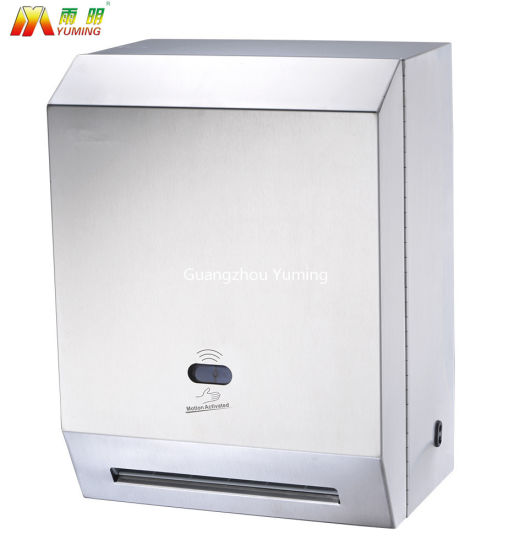 China Stainless Steel Auto Cut Jumbo Roll Paper Towel Dispenser With Security Lock China Tissue Roll Holder Paper Holder