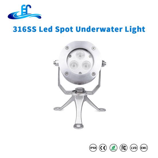 9watt 316ss LED Underwater Spot Lighting with CREE LED