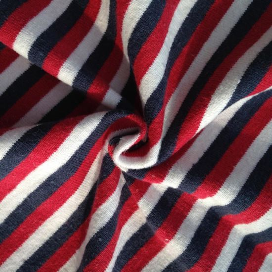 Hemp/Cotton Yarn Dyed Colorful Stripe Jersey