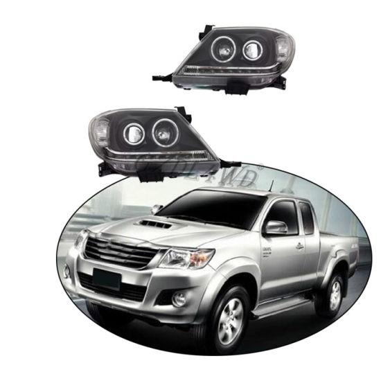 Black Projector Angel Eye Headlight Lamp for Toyota Hilux Vigo Mk7 2012-2014