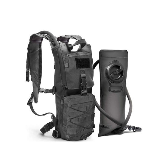 Sport Tactical Molle Hydration Pack Backpack with 3L Water Bladder. Lightweight & Durable Military Daypack for Hiking Running Cycling Camping Biking Walking