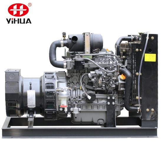 Open Type 7kw 10kw 12/15/20kw 40kw 45kw 25 50kVA Electric Diesel Generator with Janpan Yanmar Engine