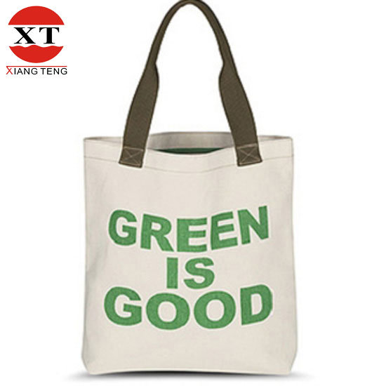 Hot Sale Customised Natural 100%Cotton Tote Bag Leisure Hand Bag
