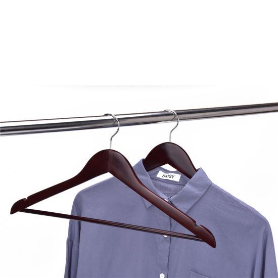 Custom Colored Wood Clothes Hangers Wooden Coat Hanger 2020 Best Selling in Amazon