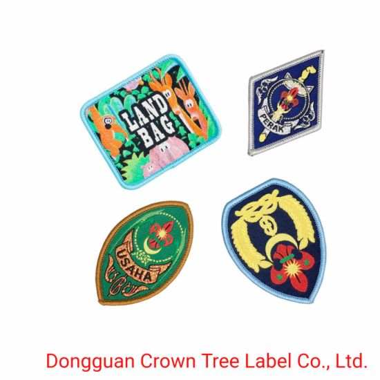 High Definition Patch Mini Size Woven Badge for Garment Accessories Decoration