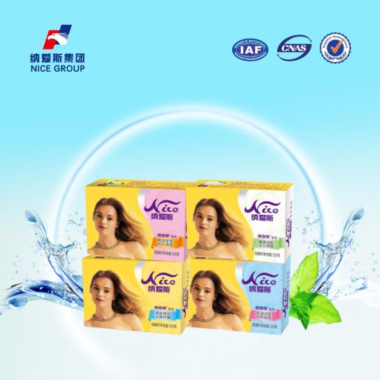 125g Nice Brand Faint Scent Body Care Bath Soap From China