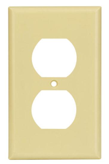1-Gang Duplex Device Receptacle Wallplate, UL Listing