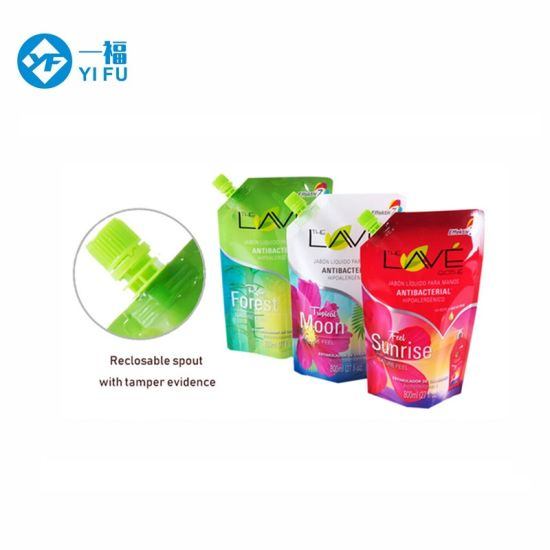 Liquid Laundry Detergent Plastic Packaging Bag